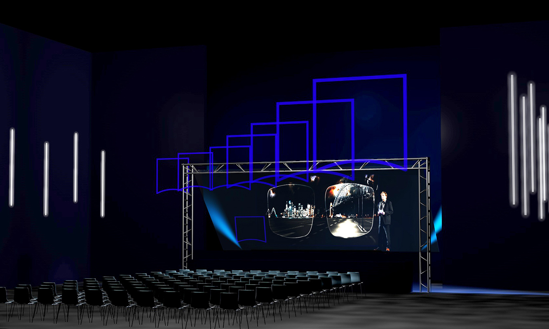 ZEISS Vision; holographisches Bühnenset, Bad Nauheim