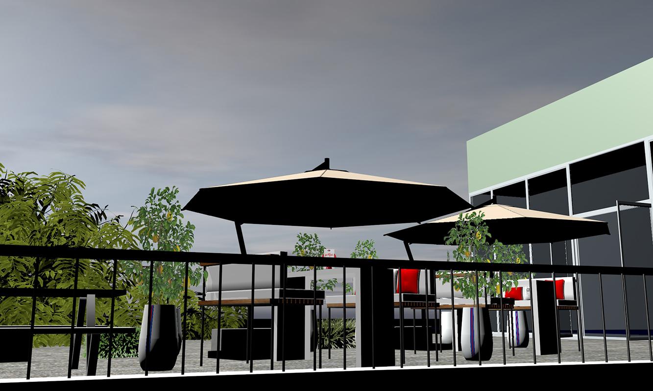 Martini-Terrazza; SUPER concept space, Berlin